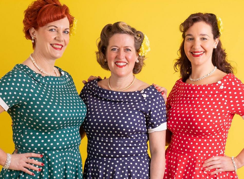 NEW FACES: The Seatones harmony group will perform at the TCR Hub as part of 1940s weekend