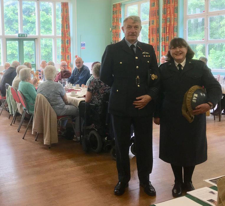 ON DUTY: Allan Jones and Iris Hillery, of the World War 2 Operations living history group at Startforth Lunch Club