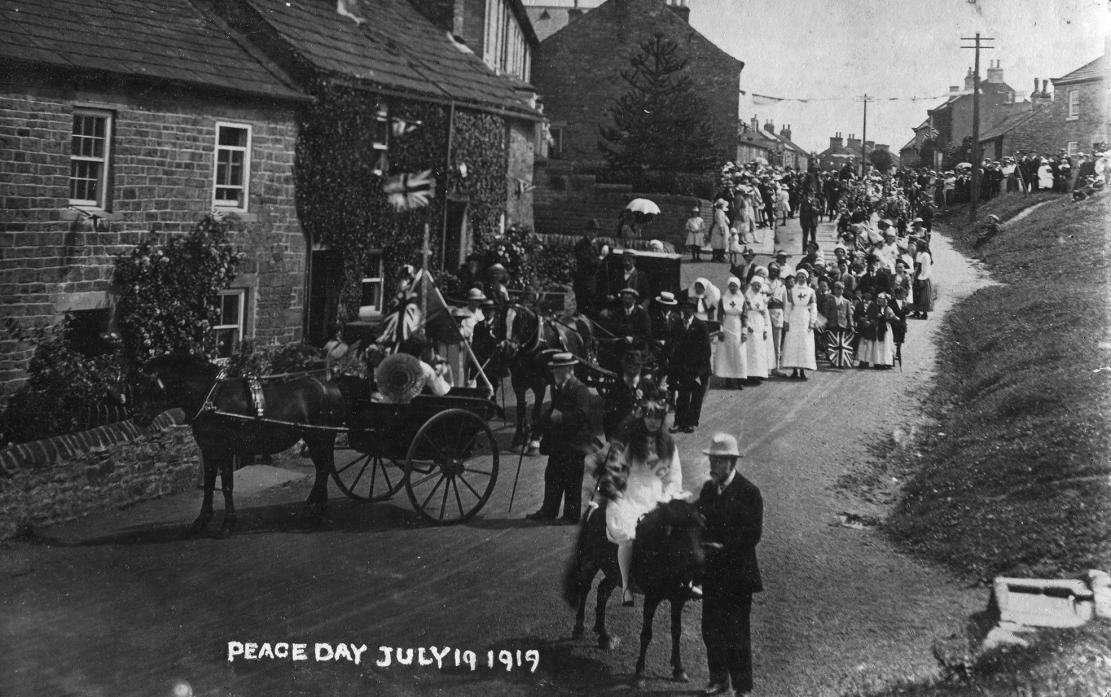 PEACE PARADE: An image of the peace celebrations that were held in Cotherstone. Nationally, Peace day was marked on July 19, 1919