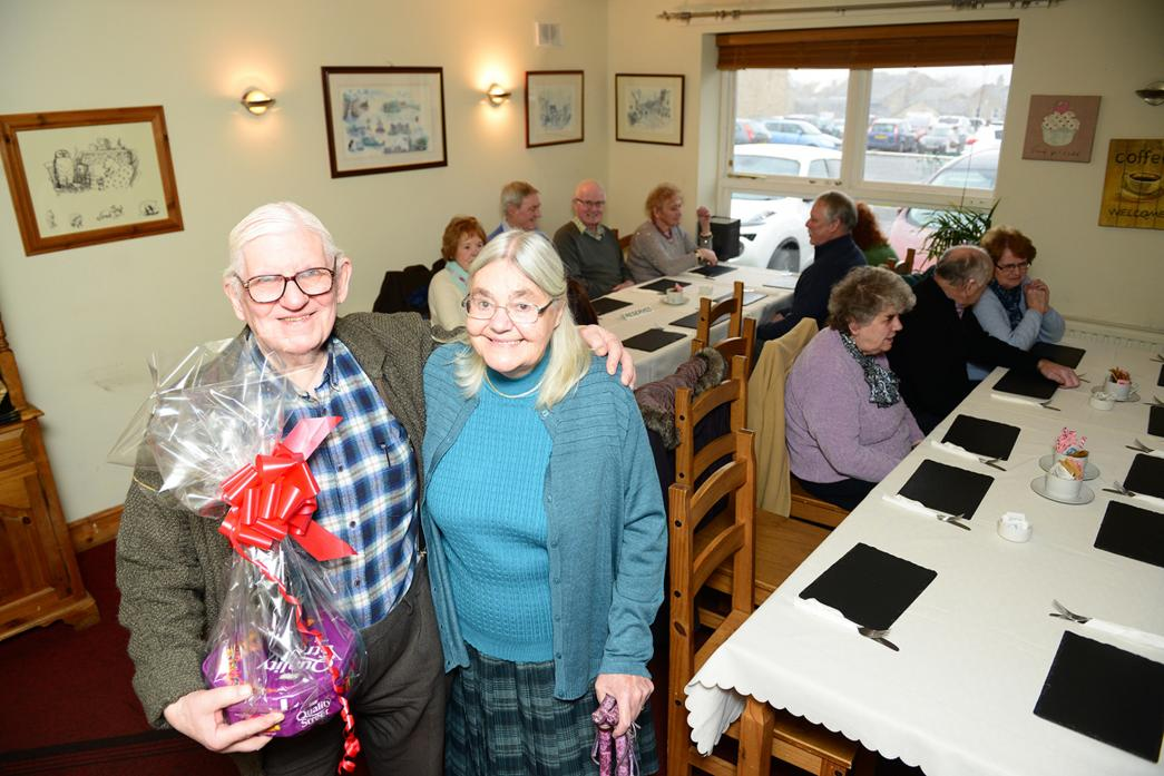 TASTY TREAT: Jean and Brian Whitely at The Teesdale Restaurant where they hosted a lunch for the Games For The Brain dementia support group