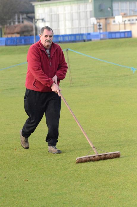 TIRELESS: Groundsman Dave Garth has tended to the square at Middleton-in-Teesdale Cricket Club for the past 33 years