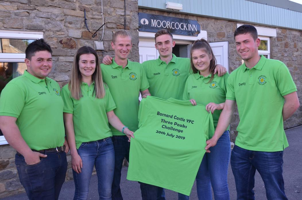 BIG CHALLENGE: Barnard Castle Young Farmers Danny Souter, Molly Griffin, Tom Addison, William Beadle, Zoe Hutchinson and Andrew Dent are looking forward to their epic challenge later this month