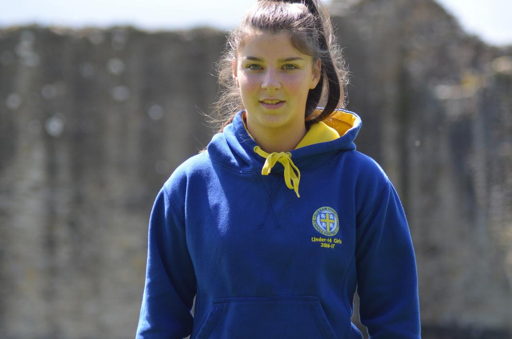 FIELD OF DREAMS: Teenager Freya Johnson has signed for the Durham WIldcats U20 development squad