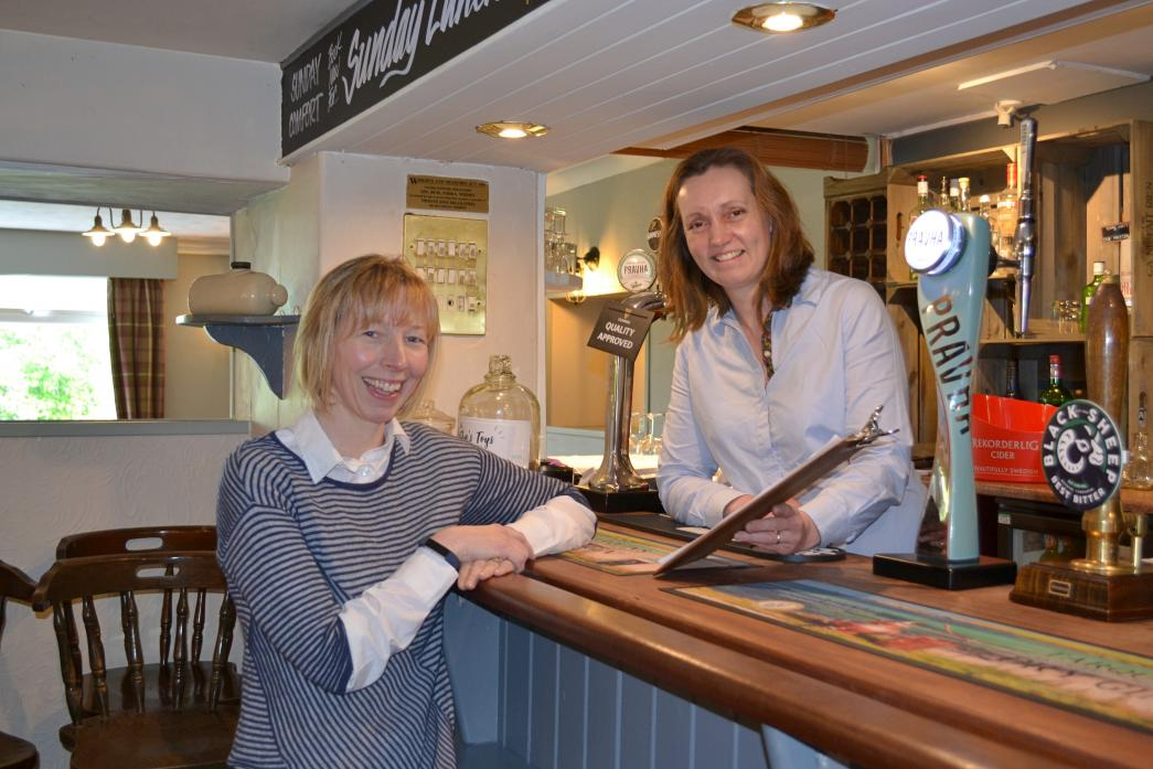 FOOD FOR THOUGHT: Clare Moss-Klennell and Clare Dixon review the menu at The Three Tuns in Eggleston