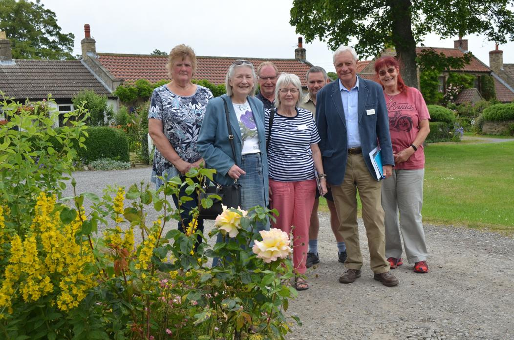 Villagers accompanied Northumbria in Bloom judges on a guided walk around Ovington for their summer judging. From left are Gillian Ake, Marian Foster, Nigel Parkes, Colleen Ashwin Kean, Shaun Hanson, Rod Mathieson and Barbara Levett.