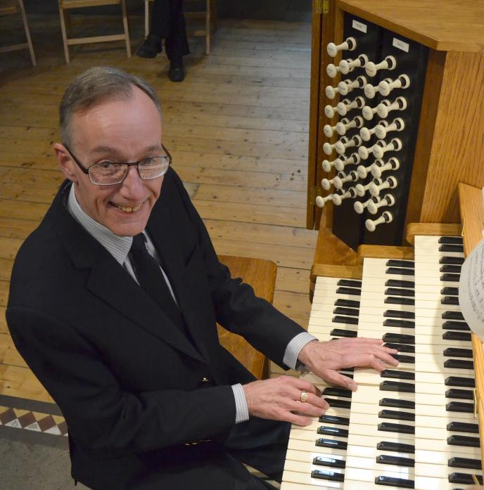 IN TUNE: Organist Colin Wood, performing at St Mary's Church, Barnard Castle, last week