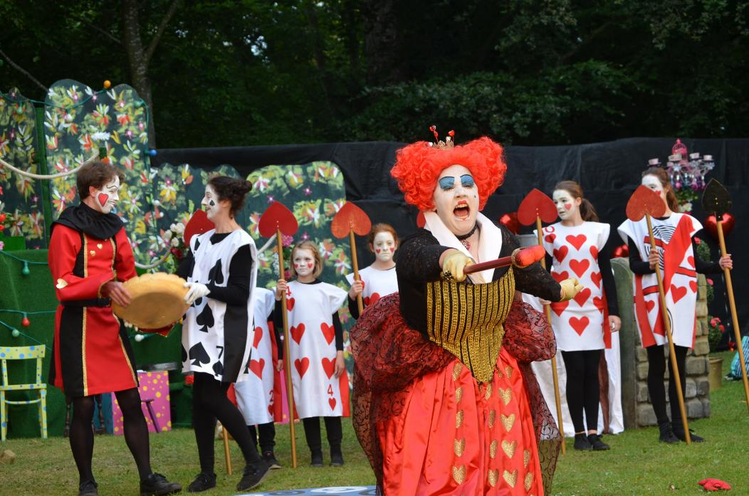 FULL OF COLOUR:  Bunny Forsyth's Queen of Hearts took centre stage