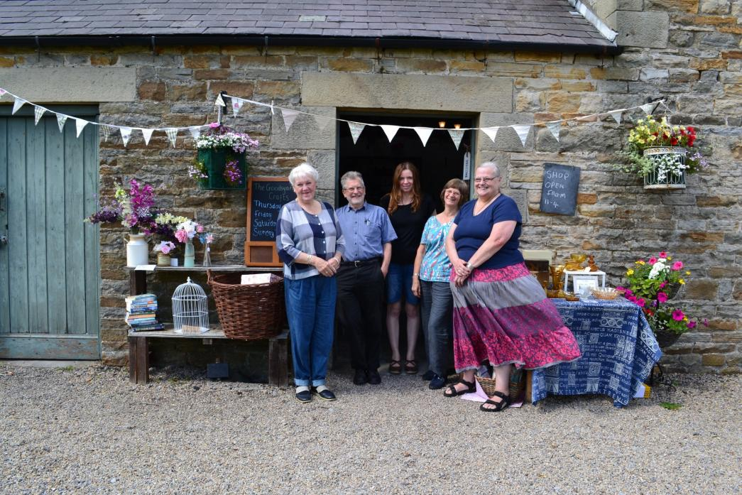 NEW VENTURE: Jane Addison, far right, at the launch of her new shop