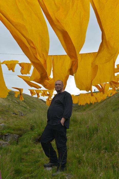 VIVID: Steve Messam under the art, created in a leadmining hush above Bowlees
