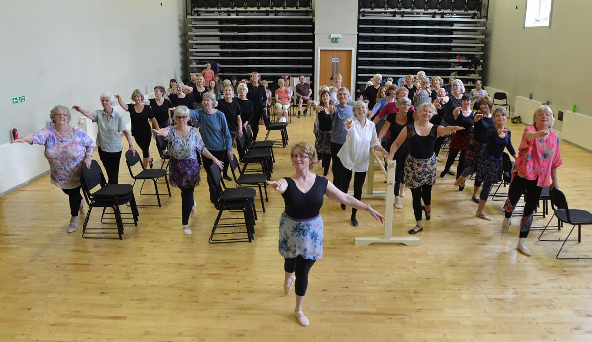 STEPPING OUT: Joyce Jeffery leads her Silver Swan ballet classes at The Witham during an open session
