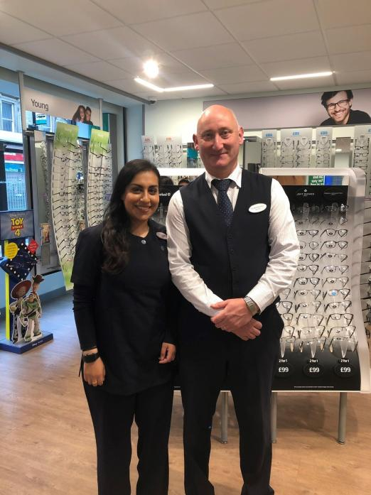 OPENING: Maria Sattar and Tim Mitchison have opened Specsavers, a national brand which runs as a joint venture partnership