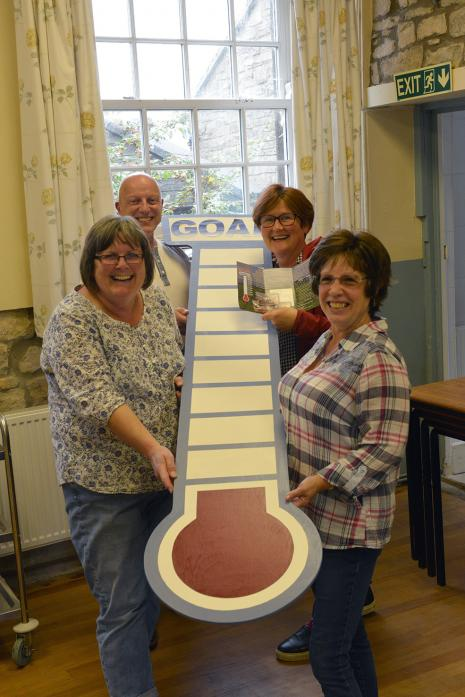 VILLAGE EFFORT: Jane Teasdale, Sean Williams, Amanda Pettitt and Beverley Redfern have launched a fundraising campaign to improve the catering facilities at Stainton and Streatlam Village Hall