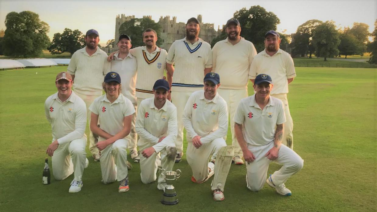 WINNING TEAM: Peter Forster, Chris Dobinson, Ryan Lee, Simon Lee, Dan Lee, James Forster Andrew West, Joe Beadle, Joe Dent, Matt Dent, Gareth Walton successfully secured the league title for Raby Castle Cricket Club