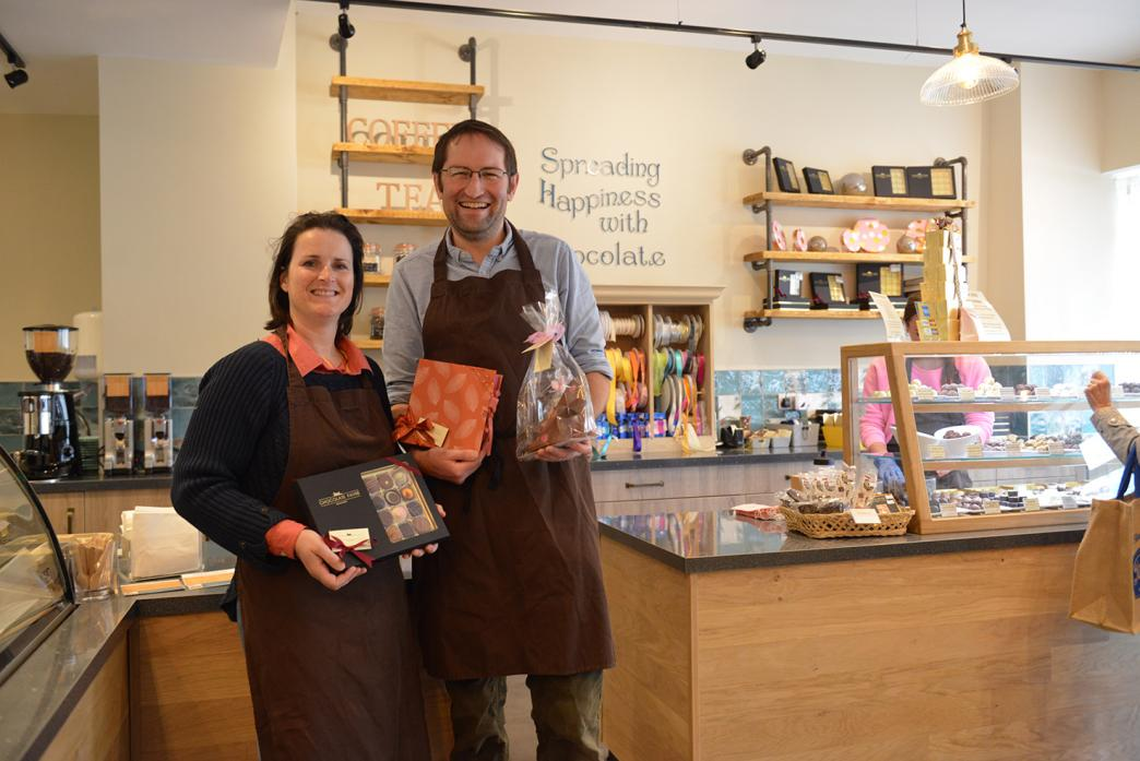 BIG VENTURE: Owners Sarah Wall and Kenny Walker are eagre to welcome customers to Chocolate Fayre's new premises on Horse-market