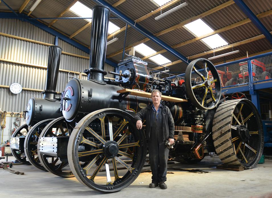 STRIKING MACHINES: Stephen Kearton will have his two John Fowler traction engines at the annual Ewebank Ploughing Match later this month