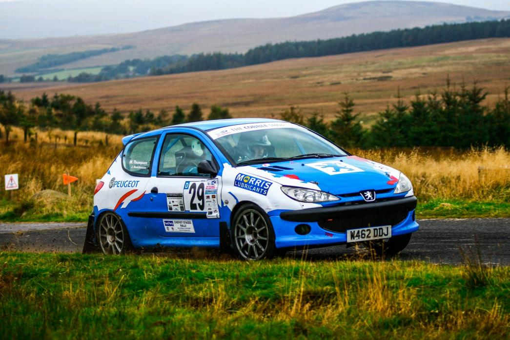 GREAT RACE: Mark Thompson and Joe Hutchinson came second in their class of the Cheviot Rally, despite encountering technical difficulties that cost them two minutes and the lead. Picture by Andrew Hern