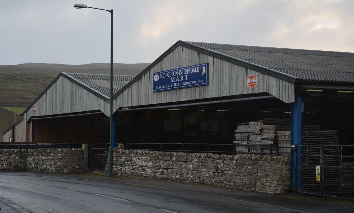 DIFFICULT TIMES: Middleton-in-Teesdale Auction Mart, part of the H&H Group TM pic