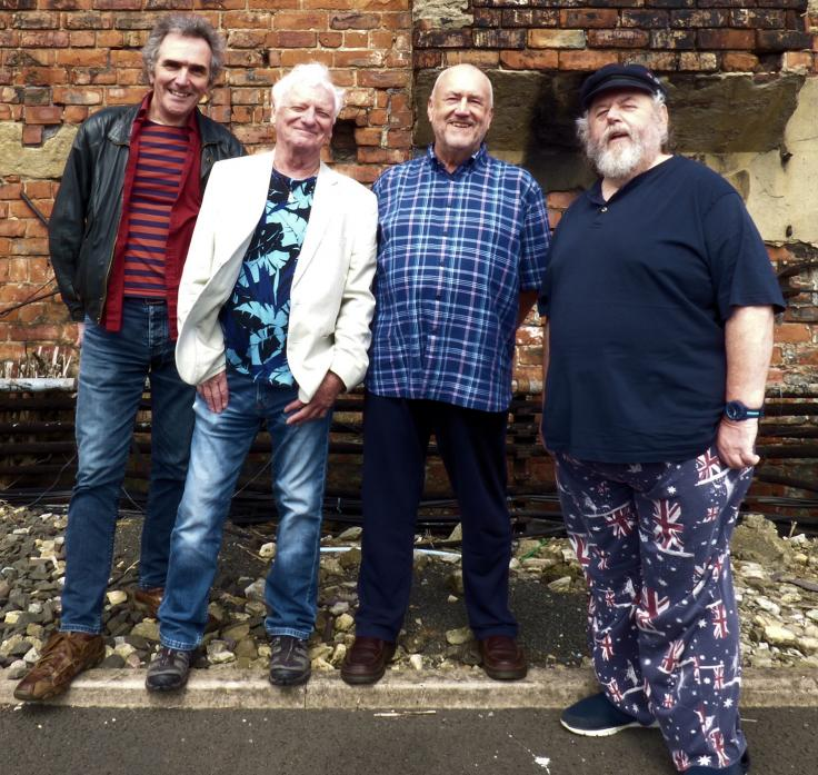 ONE LAST TIME: The Pitmen Poets are returning to Barnard Castle for a final time as part of their farewell tour. From left, Jez Lowe, Billy Mitchell, Bob Fox and Benny Graham