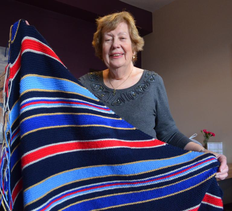 A GOOD YARN: Nessie Logan, who has launched Yarn and Yap, which will help keep the homeless warm