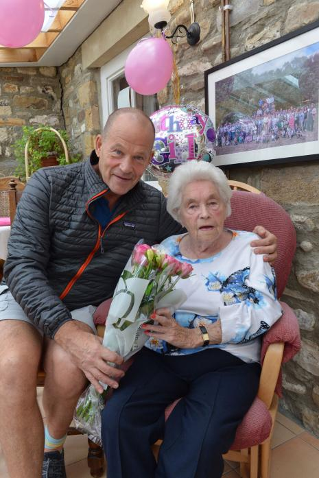 WHISTLE STOP VISIT: Polar explorer Robert Swan returned to Teesdale for one day last week to celebrate his mum Margaret's 104th birthday TM pic
