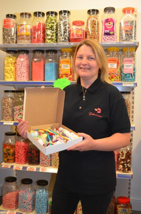 SWEET TREAT: Babs Phillips is the owner of Babalicious, a new retro-style sweet shop in Evenwood                                                       TM pic