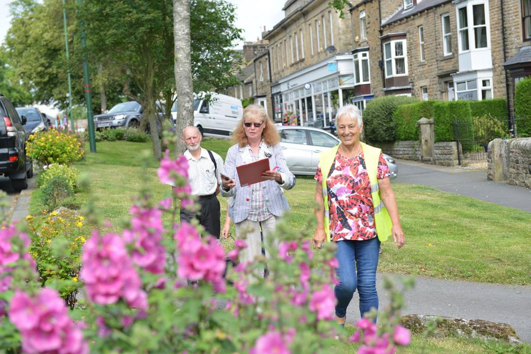 AIMING HIGHER: Judges pointed out areas for improvement after visiting Middleton-in-Teesdale for last year's Northumbria-in-Bloom competition