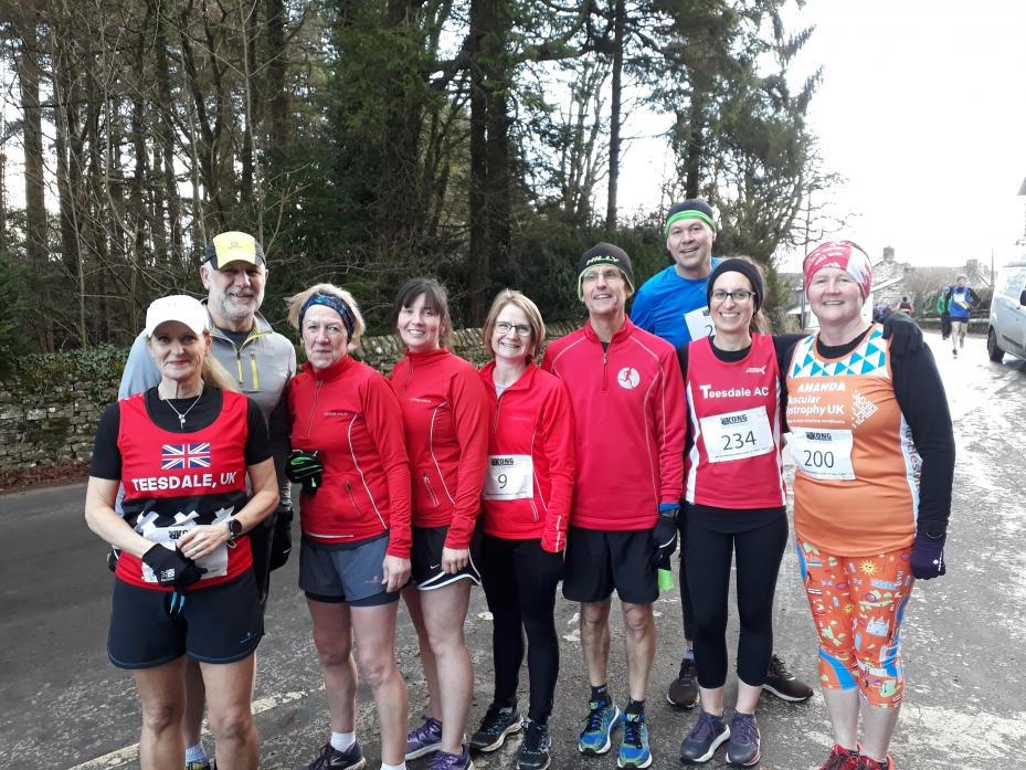 FIGHTING FIT: Teesdale Athletics Club members who took part in the Ravenstonedale 10K