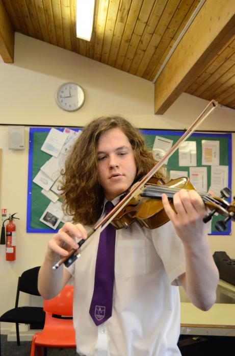 PROMISING: Hutton Magna's William Rolt will play with the National Schools Symphony Orchestra later this year