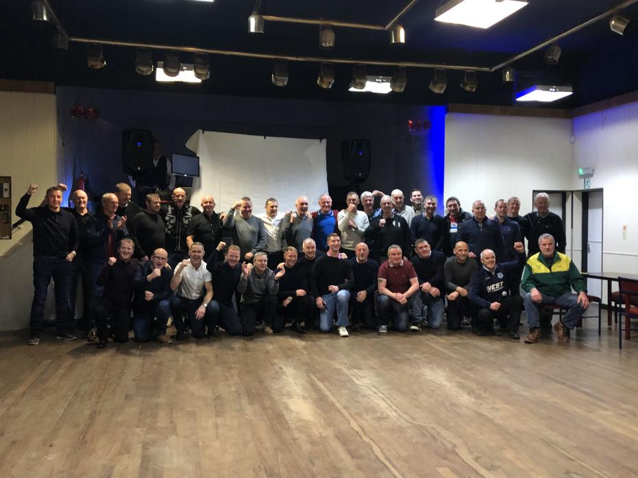 GOOD TIMES: The players and supporters of Cockfield FC at the reunion