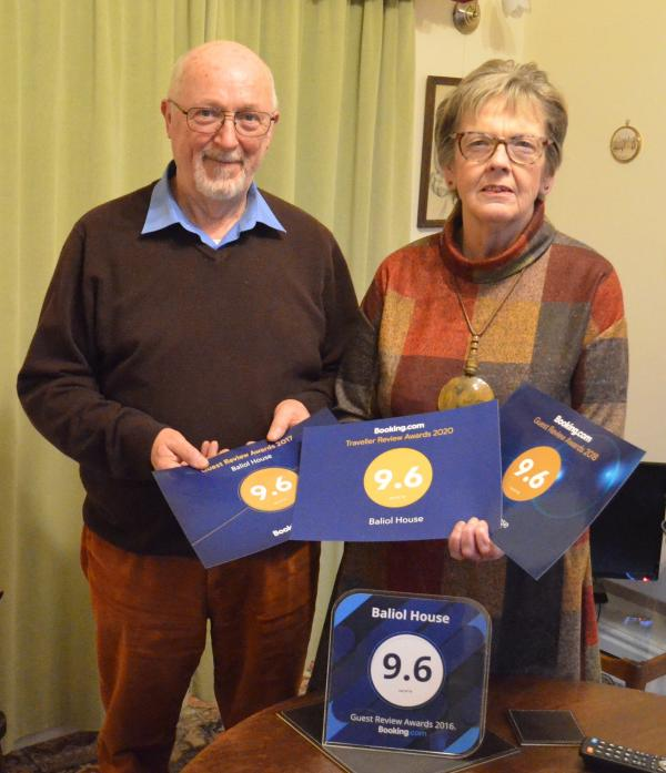 ONE OF THE BEST: James and Christine Dykes celebrate another top rating from Booking.com for their B&B Baliol House, in Barnard Castle