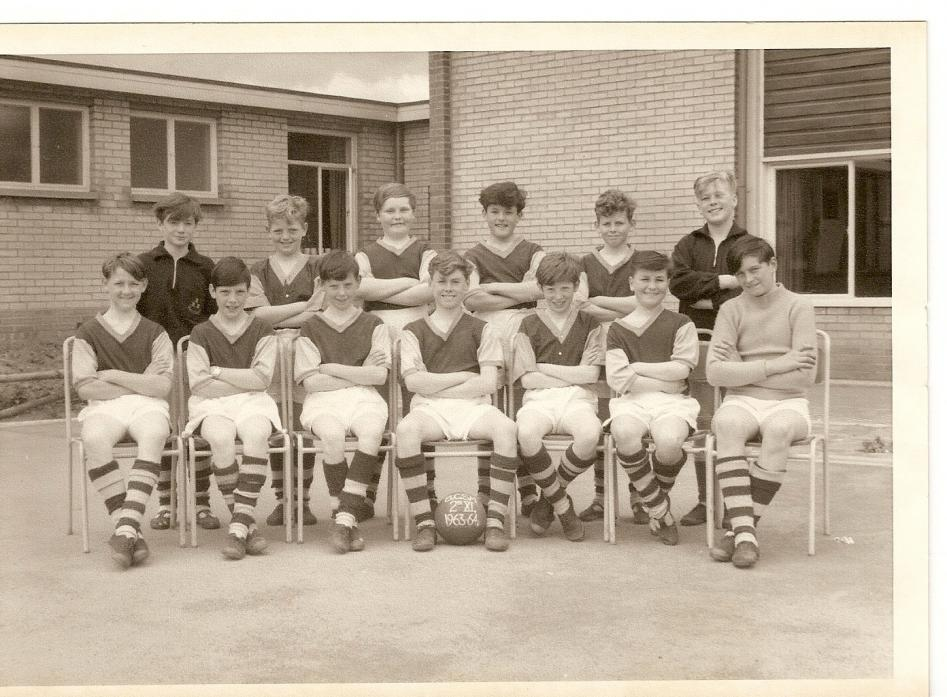 SCHOOL TEAM: Do you know the missing names of  Barnard Castle Secondary Modern's football team in 1963/64.  Dave Thomas, who went on to play for England is with the ball, which is marked BCSM 2nd XI. See the main story for the names we do have