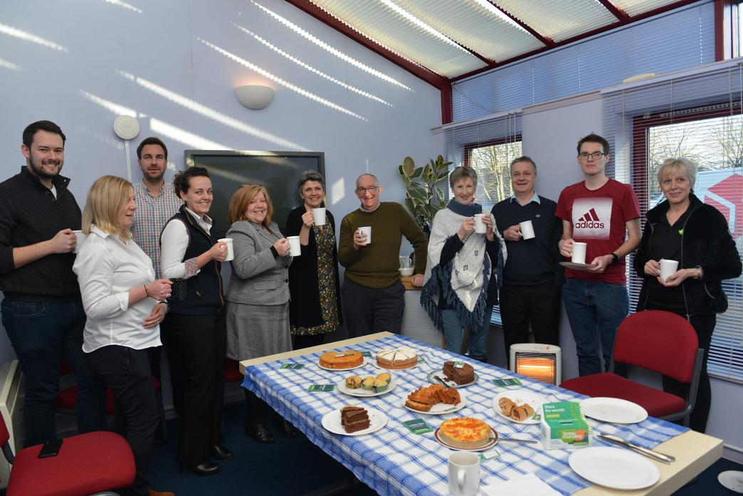 MENTAL HEALTH: A small crowd enjoyed coffee, tea, cake and good company during the event at Enterprise House in aid of the Samaritans charity 	               TM pic