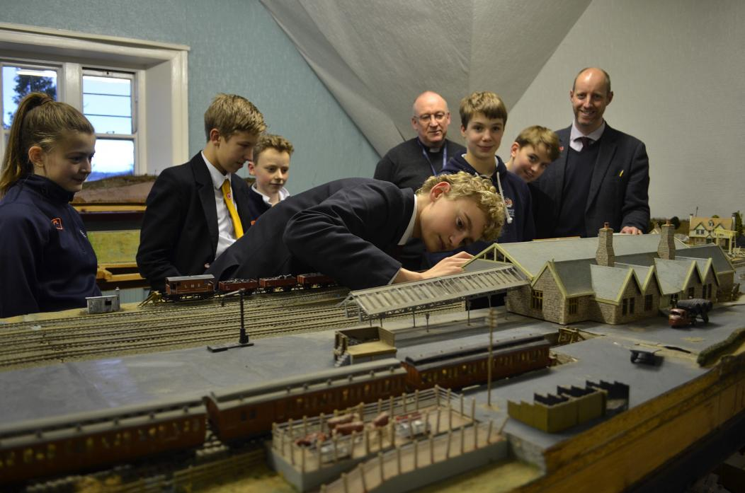 SMALL WORLD: Model railway stations at Barnard Castle and Broomielaw, is being restored thanks to the dedication of a group of pupils  TM pic
