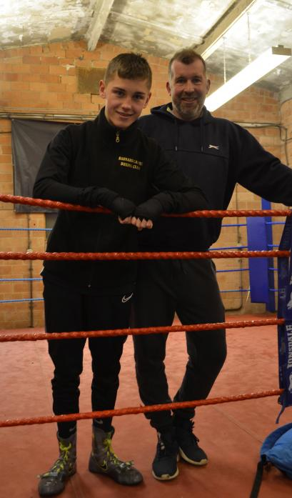 PATHWAY TO GLORY: Dan Jackson, with his father and coach Richard, has been chosen to train with England Boxing's coaches