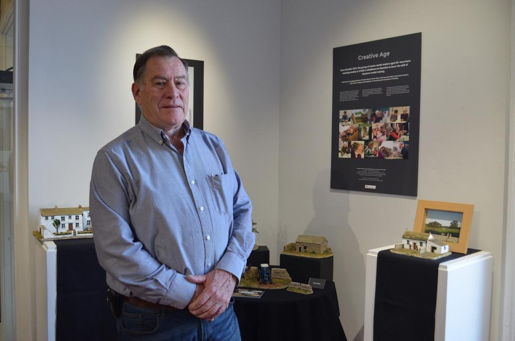 MARVELLOUS MODELS: Retired farmer and craftsman Trevor Dixon, of Dalestone Crafts, is looking forward to showcasing the work of the participants of the Creative Age project at The Witham this month  							             TM pic