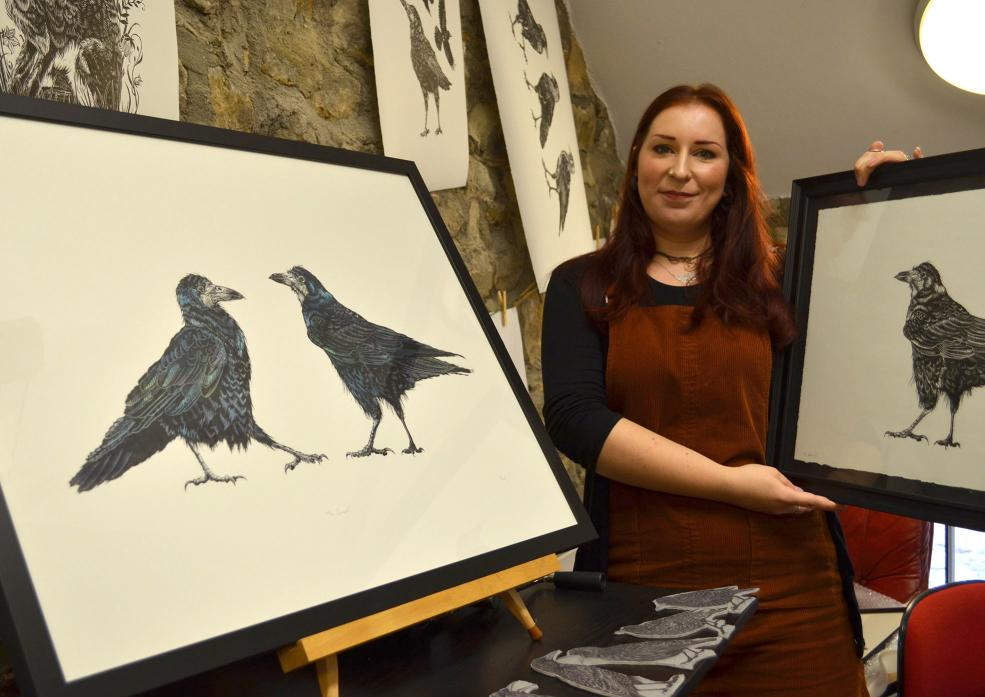 FEATHERED FRIENDS: Covids will be on display at artist Holly Scott's latest exhibition at The Station TM pic