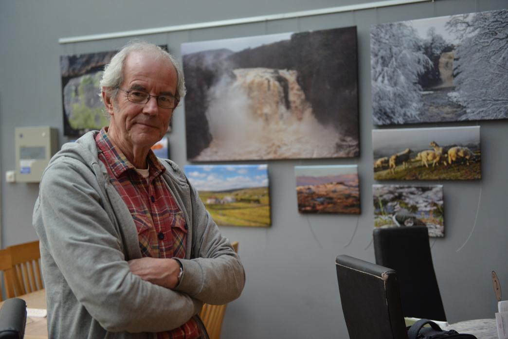 EYE FOR DETAIL: Landscape and wildlife photographer Martin Rogers' work has gone on display at Cross Lanes Organic Farm Shop					           TM pic