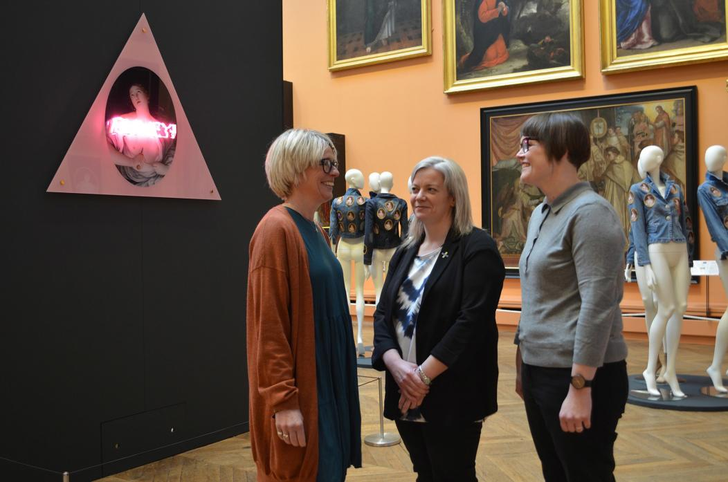 WOMEN'S WORLD: Artists from the blimey! collective –  Amanda Marshall, Nicola Golightly and Vicky Holbrough – opened their exhibition at The Bowes Museum                                                   TM pic