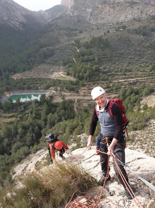 ON HOLD: Alan Hinkes climbing in Calpe, on Spain's Mediterranean coast, in January