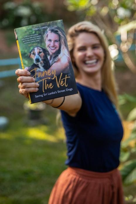 SELFLESS VET: Janey Lowes with her new book