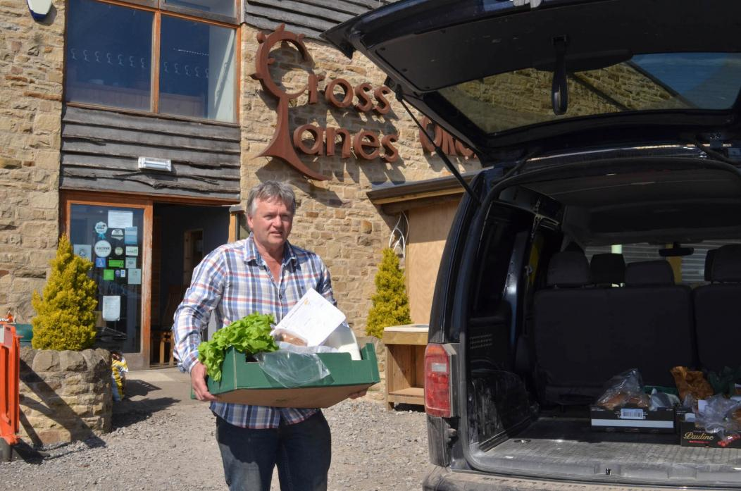 HITTING THE ROAD: Peter Coverdale loading up supplies for customers across the dale