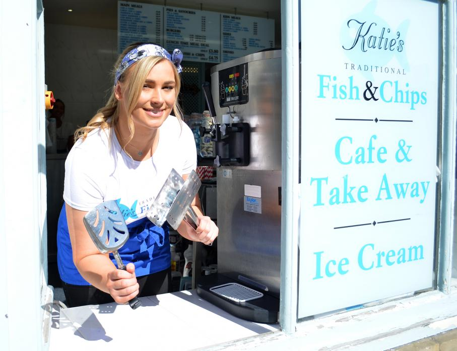 UP AND RUNNING: Katie Barker, who has re-opened Katie's Fish and Chips