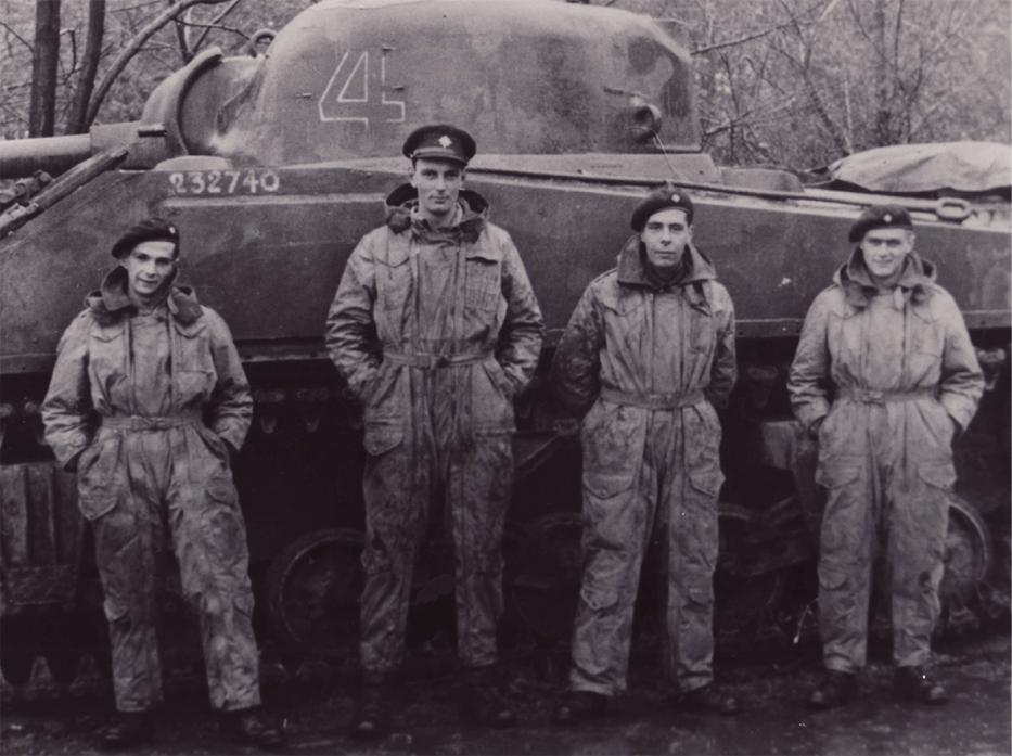 TANK MEN: Capt Geoffrey Gilbertson is second on the left