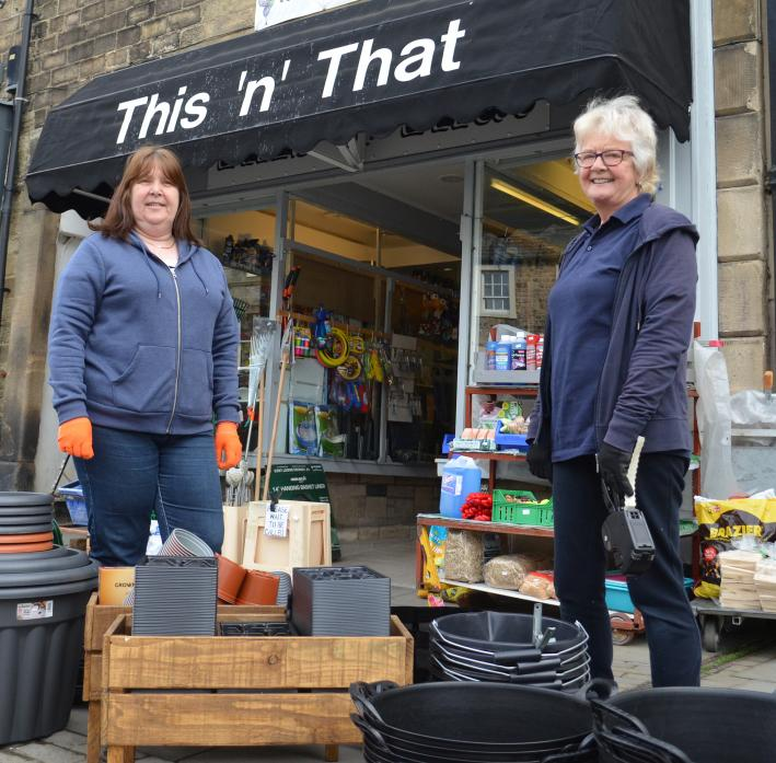 UP AND RUNNING: Linda Pitchers, right, and Gail MacDonald at This 'n' That, in Barnard Castle