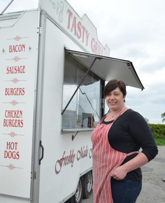 BACK IN BUSINESS: Carrie Kellett has re-opened her fast food truck Tasty Grill to cater to hungry wagon drivers