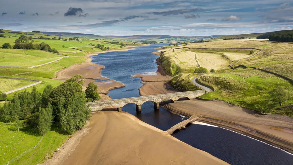 NO GO: Anglers keen to fish Teesdale's reservoirs will have to wait while Northumbrian Water officials devise the safest way of reopening facilities. The reservoir level at Grassholme is low at the moment – a combination of dry weather and the water compa