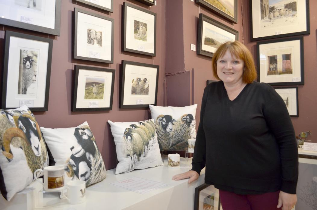 GETTING CREATIVE: Artist Sandra Parker. You can view her work at her gallery in Barnard Castle town centre