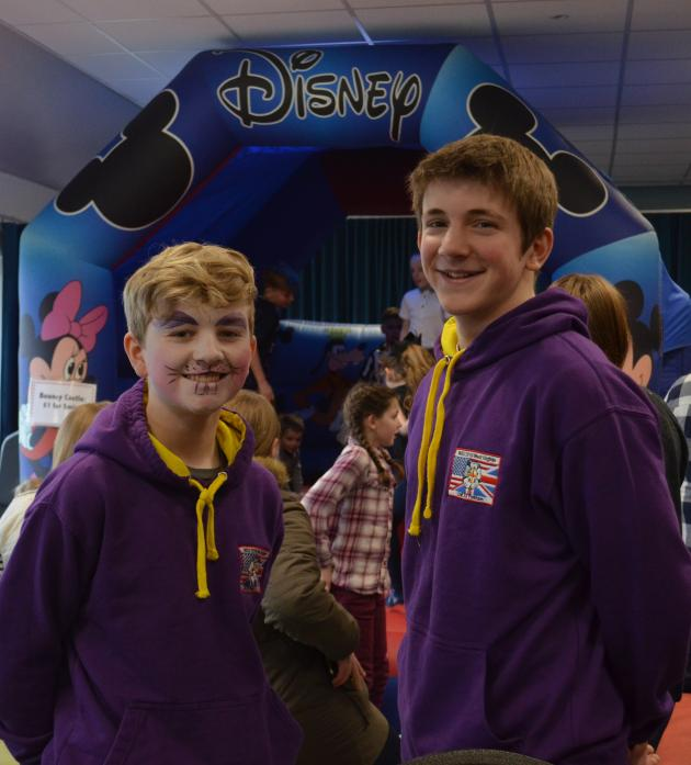 WORKING HARD: Scouts Lewis Porter and Jacob Windle at the Easter fun afternoon to raise money for their visit to the World Jamboree next year