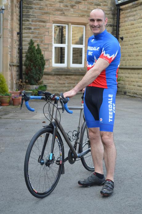 CHALLENGE: Mark Hobson will cycle to France, where his grandmother's ashes will be interred at the war grave of her late husband, who died in June 1944