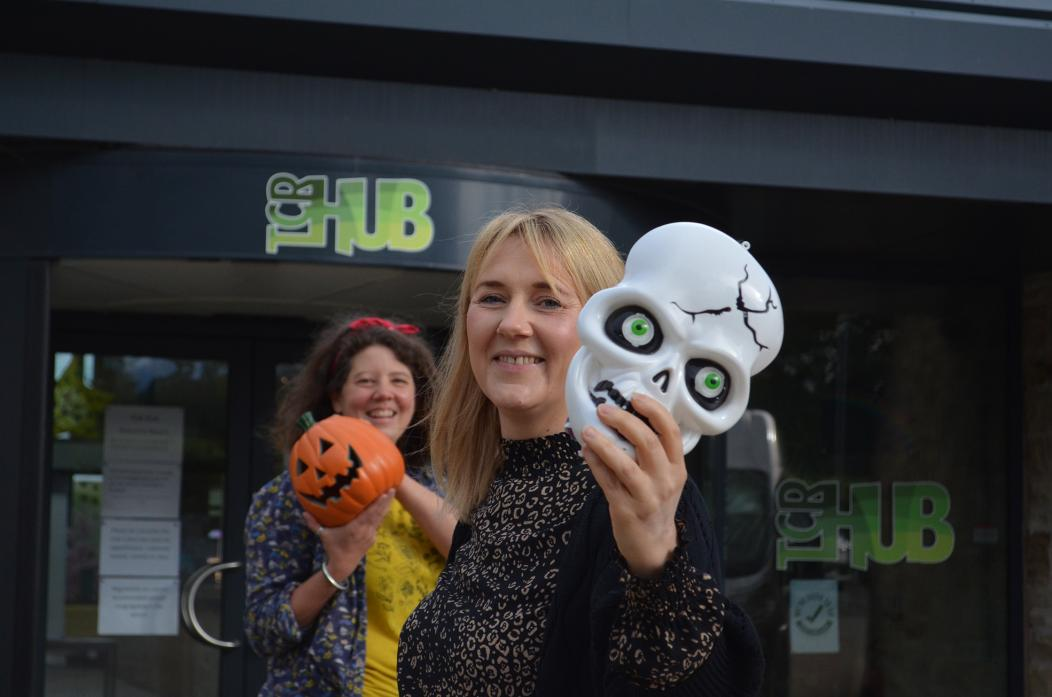 SCARY STUFF: The Hub chief executive Rachel Tweddle and family activities co-ordinator Sarah Gent have organised a Halloween trail for later in August TM pic